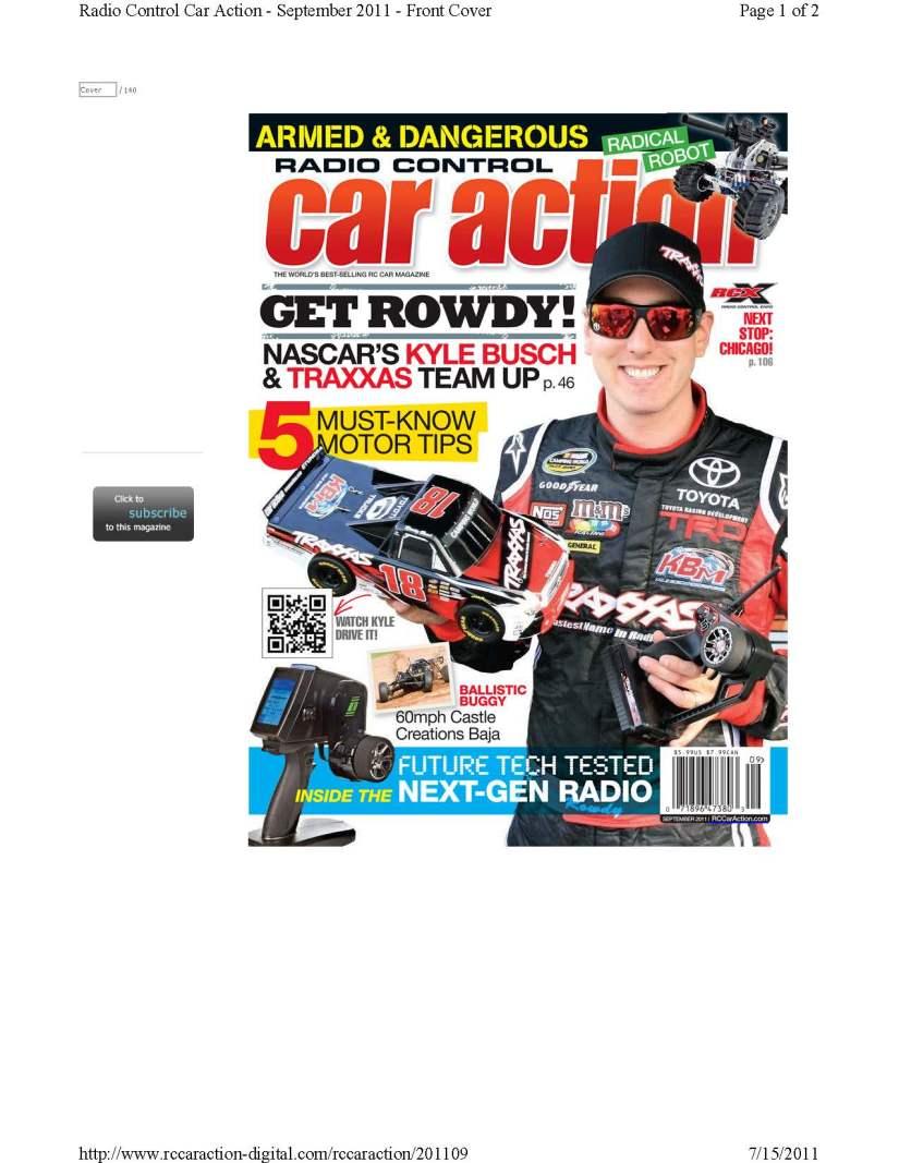 RC Car Mag Ten80 2011 Finals_Cover